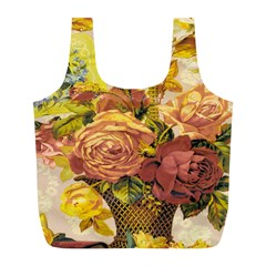 Victorian Background Full Print Recycle Bags (L)