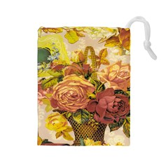 Victorian Background Drawstring Pouches (large)