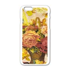 Victorian Background Apple iPhone 6/6S White Enamel Case