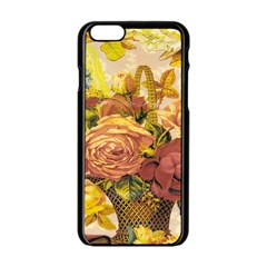Victorian Background Apple Iphone 6/6s Black Enamel Case
