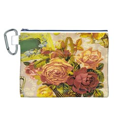 Victorian Background Canvas Cosmetic Bag (L)
