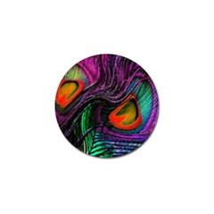 Peacock Feather Rainbow Golf Ball Marker (10 Pack)