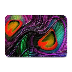 Peacock Feather Rainbow Plate Mats