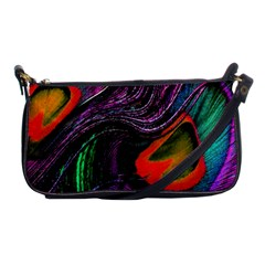 Peacock Feather Rainbow Shoulder Clutch Bags