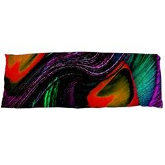 Peacock Feather Rainbow Body Pillow Case (Dakimakura)