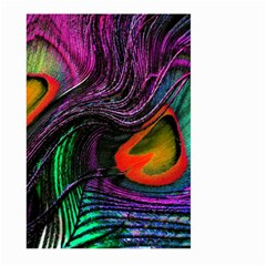 Peacock Feather Rainbow Large Garden Flag (Two Sides)