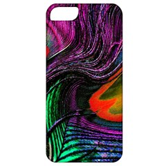 Peacock Feather Rainbow Apple iPhone 5 Classic Hardshell Case