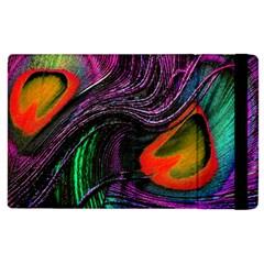 Peacock Feather Rainbow Apple iPad 2 Flip Case