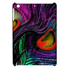 Peacock Feather Rainbow Apple iPad Mini Hardshell Case
