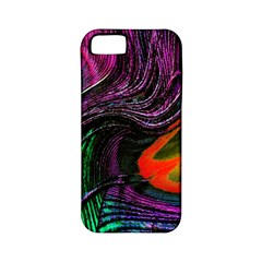 Peacock Feather Rainbow Apple iPhone 5 Classic Hardshell Case (PC+Silicone)