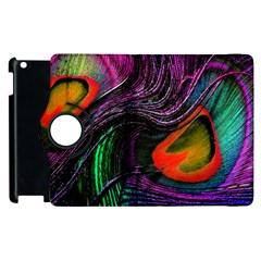 Peacock Feather Rainbow Apple Ipad 3/4 Flip 360 Case