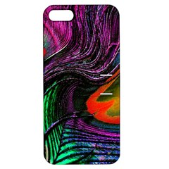 Peacock Feather Rainbow Apple iPhone 5 Hardshell Case with Stand