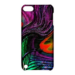 Peacock Feather Rainbow Apple iPod Touch 5 Hardshell Case with Stand