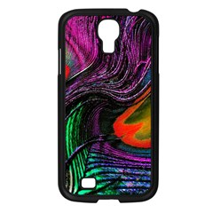 Peacock Feather Rainbow Samsung Galaxy S4 I9500/ I9505 Case (Black)