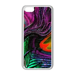 Peacock Feather Rainbow Apple Iphone 5c Seamless Case (white)