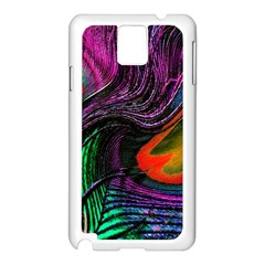 Peacock Feather Rainbow Samsung Galaxy Note 3 N9005 Case (White)
