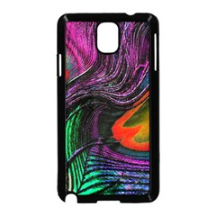 Peacock Feather Rainbow Samsung Galaxy Note 3 Neo Hardshell Case (Black)