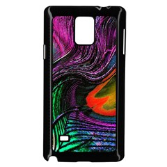 Peacock Feather Rainbow Samsung Galaxy Note 4 Case (Black)