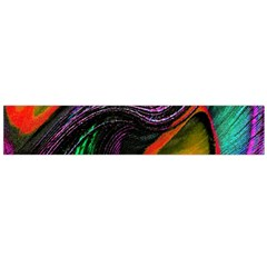 Peacock Feather Rainbow Flano Scarf (Large)