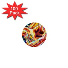 Colourful Abstract Background Design 1  Mini Buttons (100 pack)