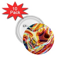 Colourful Abstract Background Design 1 75  Buttons (10 Pack)