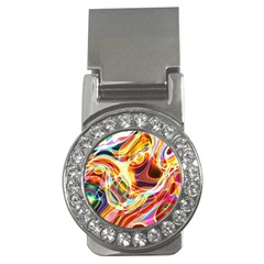 Colourful Abstract Background Design Money Clips (cz)