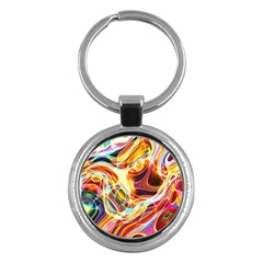 Colourful Abstract Background Design Key Chains (Round)