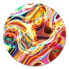 Colourful Abstract Background Design Magnet 5  (round)