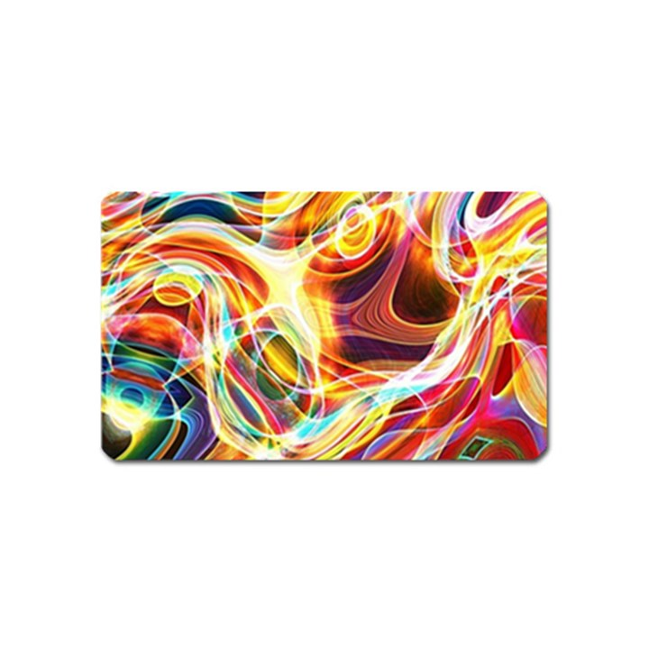 Colourful Abstract Background Design Magnet (Name Card)
