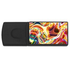Colourful Abstract Background Design USB Flash Drive Rectangular (1 GB)