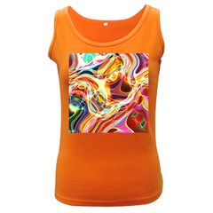 Colourful Abstract Background Design Women s Dark Tank Top