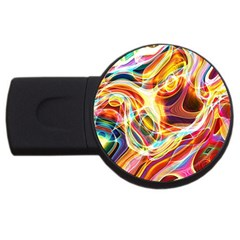 Colourful Abstract Background Design Usb Flash Drive Round (4 Gb)
