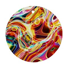 Colourful Abstract Background Design Round Ornament (Two Sides)