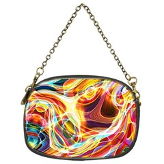 Colourful Abstract Background Design Chain Purses (two Sides)