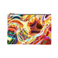 Colourful Abstract Background Design Cosmetic Bag (large)