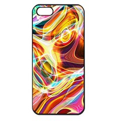 Colourful Abstract Background Design Apple iPhone 5 Seamless Case (Black)