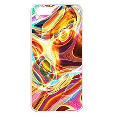 Colourful Abstract Background Design Apple iPhone 5 Seamless Case (White)
