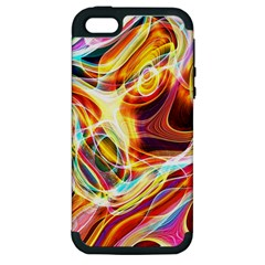 Colourful Abstract Background Design Apple iPhone 5 Hardshell Case (PC+Silicone)