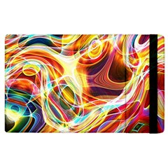 Colourful Abstract Background Design Apple iPad 2 Flip Case
