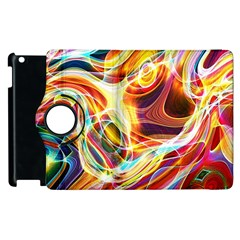 Colourful Abstract Background Design Apple iPad 2 Flip 360 Case