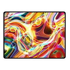 Colourful Abstract Background Design Double Sided Fleece Blanket (Small)