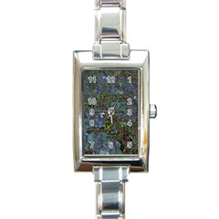 Stone Paints Texture Pattern Rectangle Italian Charm Watch