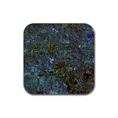 Stone Paints Texture Pattern Rubber Coaster (Square)