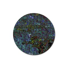 Stone Paints Texture Pattern Rubber Coaster (round)
