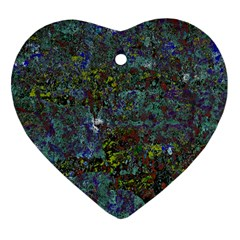 Stone Paints Texture Pattern Heart Ornament (Two Sides)