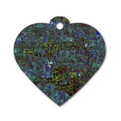 Stone Paints Texture Pattern Dog Tag Heart (two Sides)