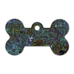 Stone Paints Texture Pattern Dog Tag Bone (One Side)