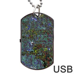 Stone Paints Texture Pattern Dog Tag USB Flash (One Side)