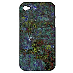 Stone Paints Texture Pattern Apple Iphone 4/4s Hardshell Case (pc+silicone)