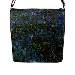 Stone Paints Texture Pattern Flap Messenger Bag (L)